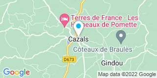 Plan Carte Notaire Thiers-Viala Valérie à Cazals