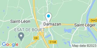 Plan Carte Notaire Alexandra Alzieu-Blanc à Damazan