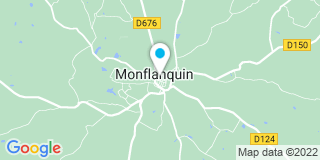 Plan Carte Notaire André Demarais à Monflanquin
