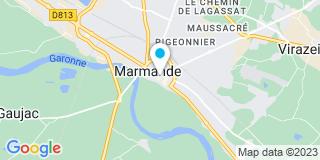 Plan Carte Pascal Saurs et Sophie de Maignas à Marmande