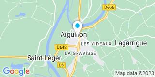 Plan Carte Les notaires Philippe Couchot et Christine Fragnier-Pares à Aiguillon