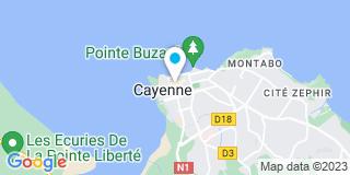 Plan Carte Lucien Prevot, Magali Prevot et Marie-José Ilmany à Cayenne