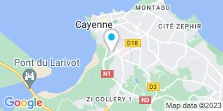 Plan Carte Maya Bravo à Cayenne