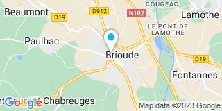 Plan Carte Mourier-Durand Anne Sophie à Brioude