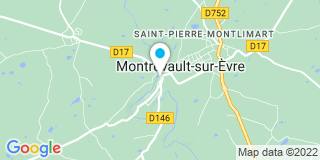 Plan Carte Notaire Bellevre-Levoyer Monique à  Montrevault
