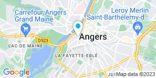 Plan Carte Les notaires Antoine Desvaux, Laurence Chauveau et Eric Bellier à Angers