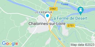 Plan Carte Les notaires Maryline Houssais et Simon Leblanc-Papouin à Chalonnes sur Loire