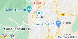 Plan Carte Christine Champeyrache-Serrano, Marc Champeyrache et Cécile Sanchez à Alés