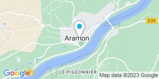 Plan Carte Emmanuel Carlotti et Alain Bonnet à Aramon