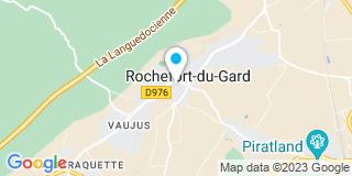 Plan Carte Jean-Michel Meyer et Pascale Saillard à Rochefort-du-Gard