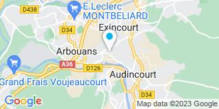 Plan Carte Notaires Demougot, Juillard, Ferry, Nadler et Bertrand à Audincourt