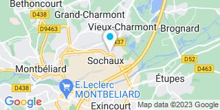 Plan Carte Selarl Heuberger  et Laresche à Sochaux