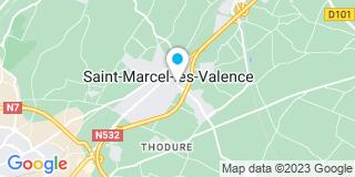 Plan Carte Autones Régis à Saint Marcel Lès Valence