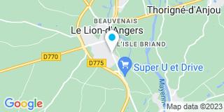 Plan Carte Les notaires Pascal Giraud, Antoine Migot, Nicolas Migot à Le Lion d'Angers
