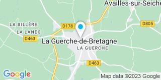 Plan Carte Pierre-Yves Ody et Pascal Ody à La Guerche-de-Bretagne