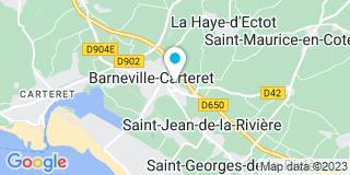 Plan Carte Les notaires Xavier Bleicher et Mathieu Boisset à Barneville Carteret