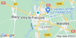 Plan Carte Notaire Marc Fèvre-Renault à Vitry le François