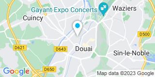 Plan Carte Christophe Bavière et Fabien Bavière à Douai