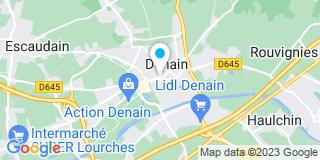 Plan Carte SCP de Cian-Lhermie Sophie, Massin Caroline et Thery-Massin Stéphanie à Denain