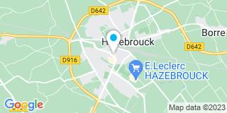 Plan Carte Dominique Devos et Anne Dutriez-Devos à Hazebrouck