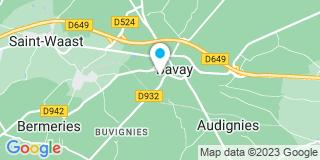 Plan Carte Dominique Leturgie à Bavay