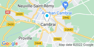 Plan Carte Eric Damoisy et Bruno Lequette à Cambrai Cedex