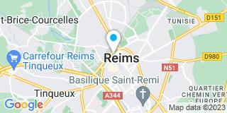 Plan Carte Les notaires Hervé Ciret et Isabelle Ciret-Dumont à Reims