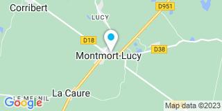 Plan Carte Notaire Xiberras Brice à Montmort  Lucy