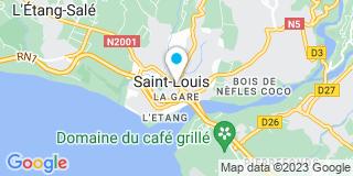 Plan Carte Les notaires Alain Beaudemoulin, Jean-Jacques Basti, Chantal Dugain, Ulrich Quinot et Gilles Gercara à Saint Louis