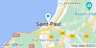 Plan Carte Les notaires Gina Grondin, Alex Gauthier, Bemat Mohamed et David Lagourgue à Saint Paul