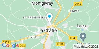 Plan Carte Françoise Courrèges et Corinne Clan De Pommayrac à La Châtre