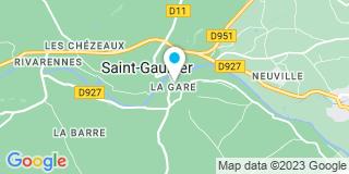 Plan Carte Olivier Cauet et Guillaume Cauet à Saint-Gaultier