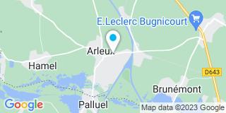 Plan Carte Frédéric Blanpain et Steve Gorfinkel à Arleux