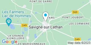 Plan Carte Maingault Nelly à Savigné-sur-Lathan