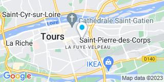 Plan Carte Bruno Hardy à Tours