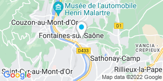 Plan Carte Les notaires Claribel Lovy et Nicolas Decieux à Fontaines-sur-Saône