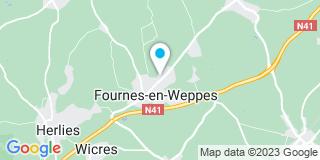 Plan Carte Marie-Pierre Hertaux, Anne Lemahieux et Valérie Coustenoble-Hinyot à Fournes-en-Weppes
