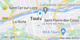 Plan Carte Jean-Claude Chevallier, Hubert Morgan De Rivery et Isabelle Glemot à Tours