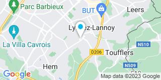 Plan Carte Nathalie Walbecq et Vincent Delahousse à Lannoy