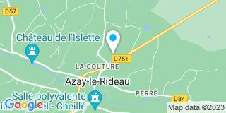Plan Carte Michel Berraud et Amandine Hamelin à Azay-le-Rideau