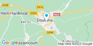 Plan Carte Dauphin Bernard à Doullens