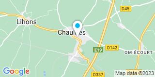 Plan Carte Limousin-Merlier Fabienne à Chaulnes