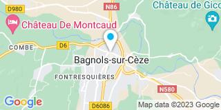 Plan Carte Michel Lambert, Jean-Pascal Laucagne et Emmanuel Joucla à Bagnols-sur-Cèze
