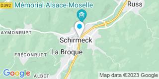 Plan Carte Florence Braun à Schirmeck