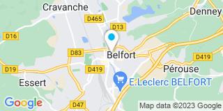 Plan Carte Annie Locatelli-Hans à Belfort
