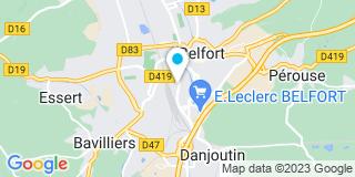 Plan Carte Florence Rigollet à Belfort