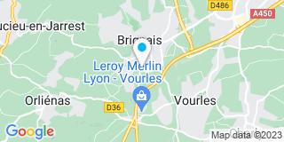 Plan Carte Les notaires Michel Ronnaux Baron et Jean-Lin Gerard à Brignais