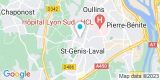 Plan Carte L'office notarial de Sainte Genis Laval