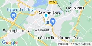 Plan Carte Muriel Clabault à Armentières