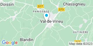 Plan Carte Martin Caroline à Virieu-sur-Bourbre